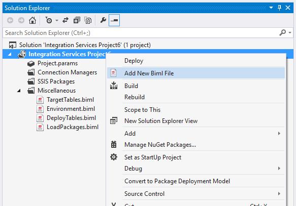 Adding a Biml File
